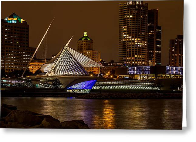 Night In The City Greeting Card by Chuck De La Rosa
