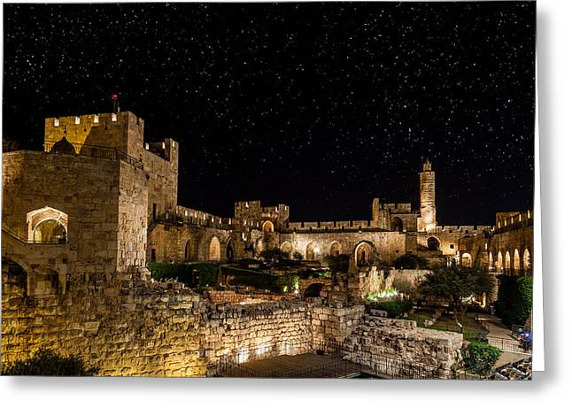 Night In The Old City Greeting Card