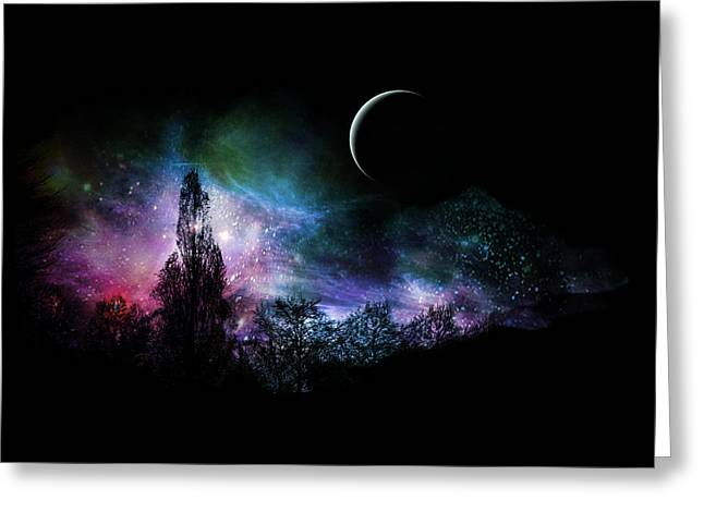 Night Landscape Greeting Card by Bruce Rolff