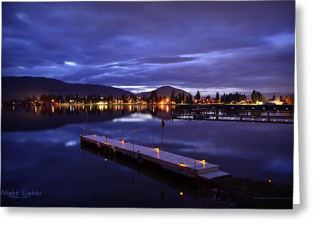 Night Lights Greeting Card by Guy Hoffman