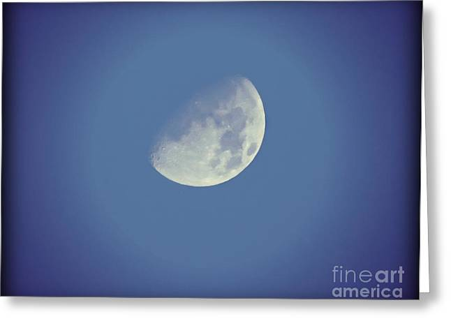 Night Moon Rising Greeting Card