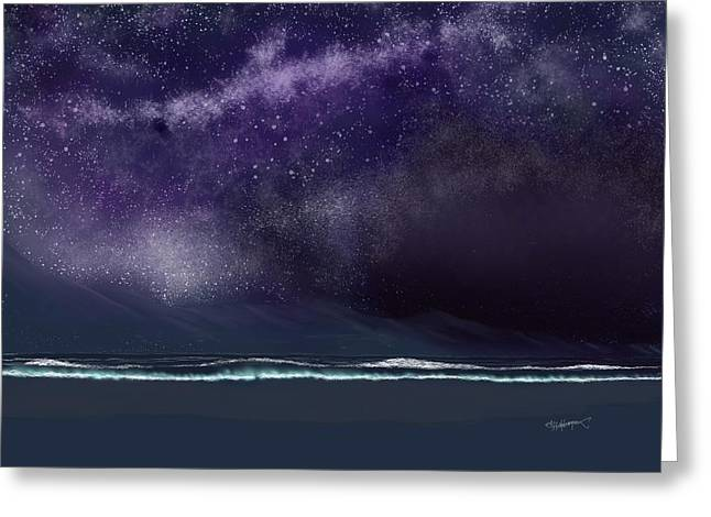 Greeting Card featuring the digital art Night Of A Thousand Stars by Anthony Fishburne