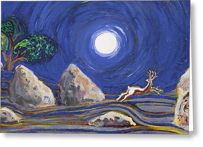 Night Of Mysteries Greeting Card