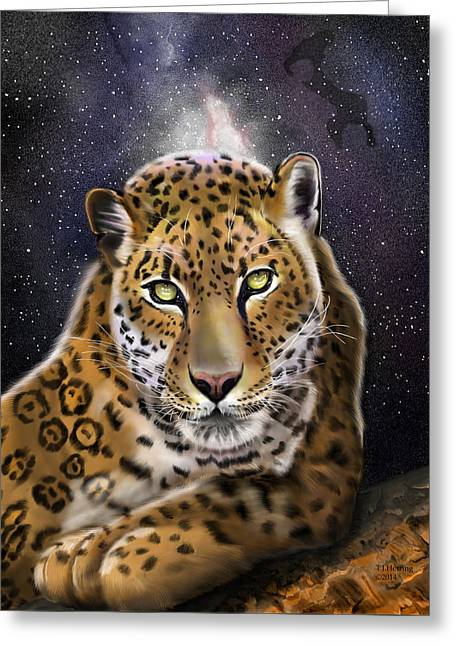 Fourth Of The Big Cat Series - Leopard Greeting Card