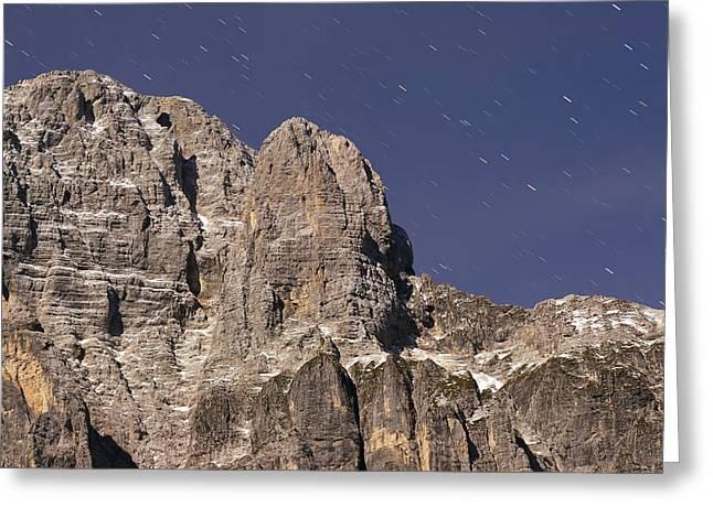 Night On Mountain Greeting Card by Ioan Panaite