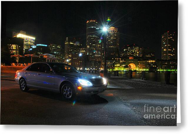 Night Out In Boston Greeting Card