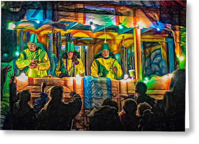 Night Parade 2 - Paint Greeting Card