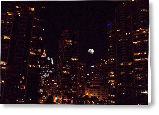 Night Passage - San Diego Greeting Card by Glenn McCarthy