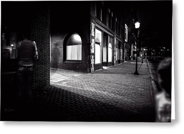 Night People Main Street Greeting Card by Bob Orsillo