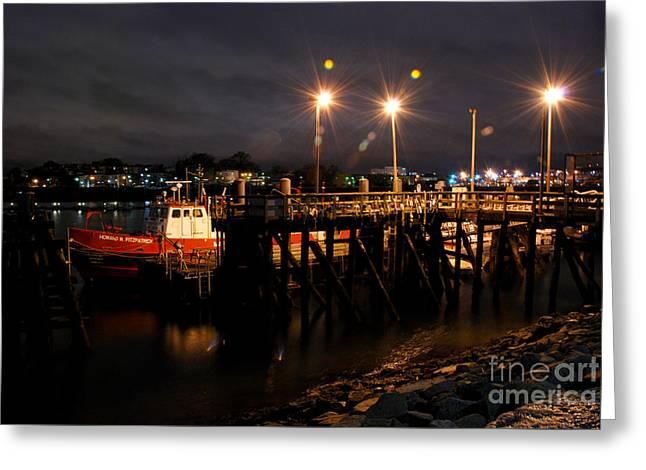 Night Pier Greeting Card
