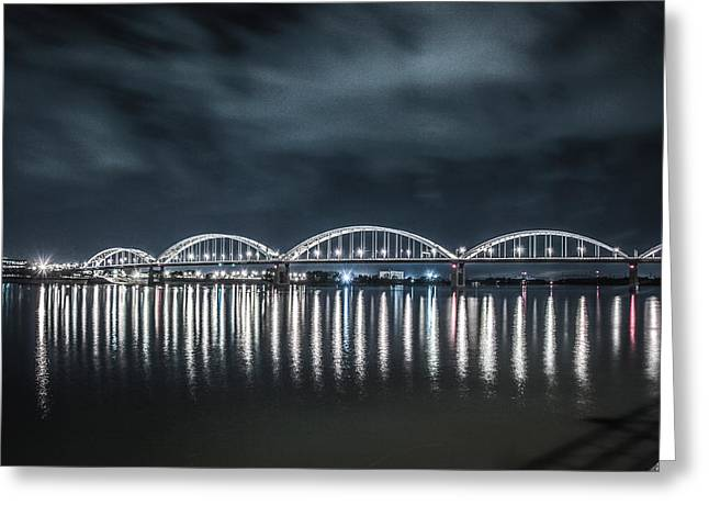 Night Reflections Greeting Card by Ray Congrove