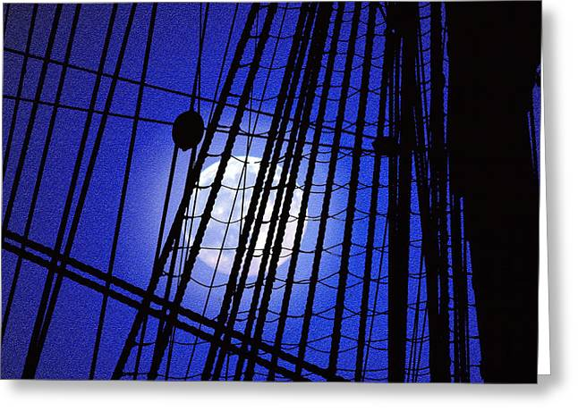 Greeting Card featuring the photograph Night Rigging by Mike Flynn
