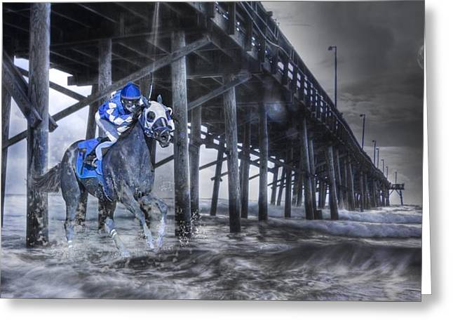 Night Run II Greeting Card by Betsy Knapp