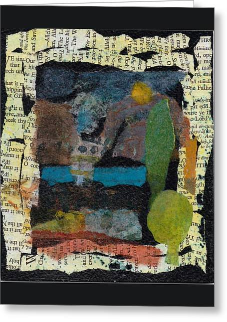 Greeting Card featuring the mixed media Night Scene by Catherine Redmayne