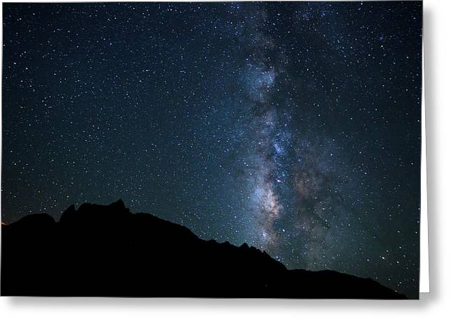 Night Sky, Bright Stars And Milky Way Greeting Card by Design Pics Vibe