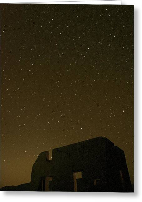 Night Sky Fort Churchill Greeting Card