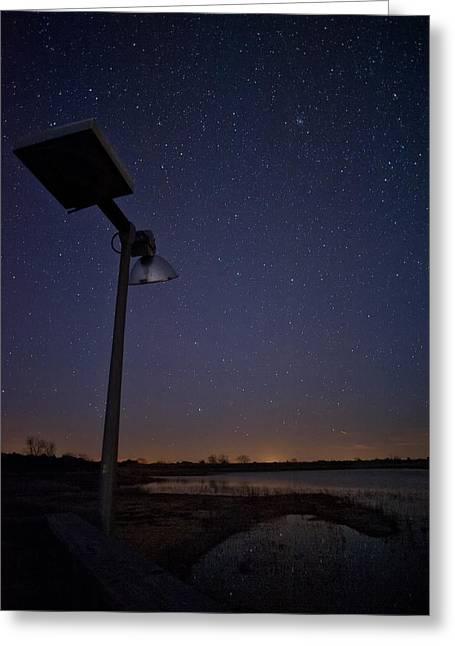 Night Sky Greeting Card by Melany Sarafis