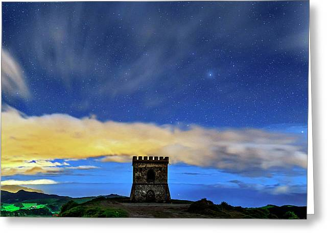 Night Sky Over Castelo Branco Greeting Card by Babak Tafreshi