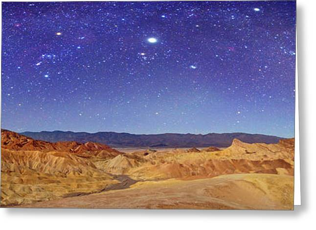 Night Sky Over Death Valley Greeting Card by Walter Pacholka, Astropics