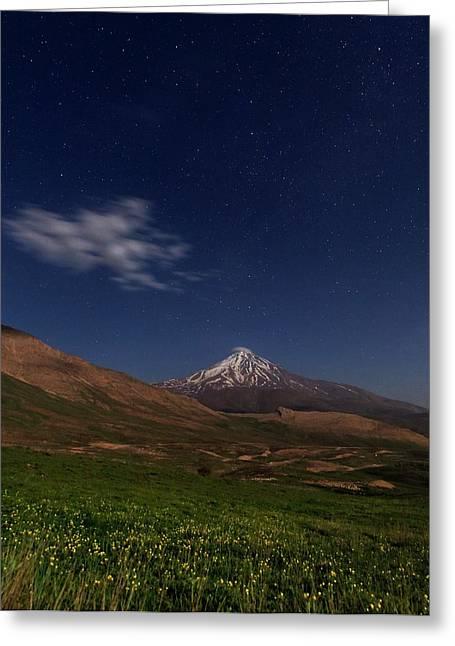 Night Sky Over Mount Damavand Greeting Card by Babak Tafreshi