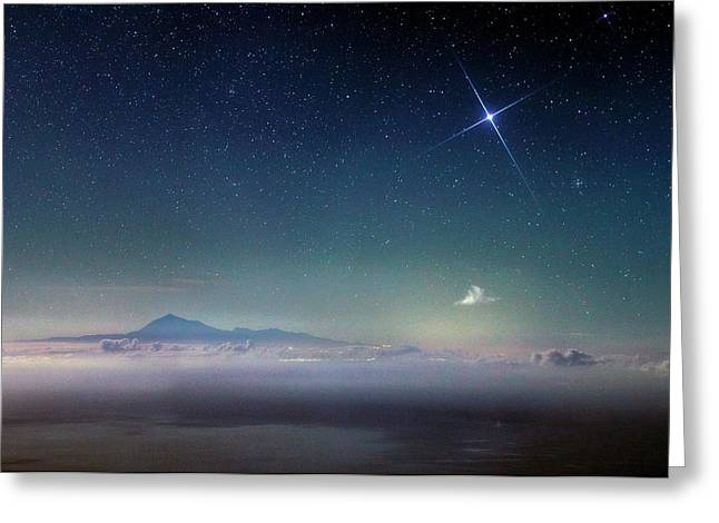 Night Sky Over Mount Teide Greeting Card by Babak Tafreshi