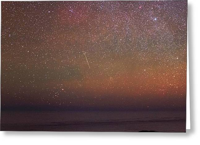 Night Sky Over The Pacific Ocean Greeting Card by Babak Tafreshi