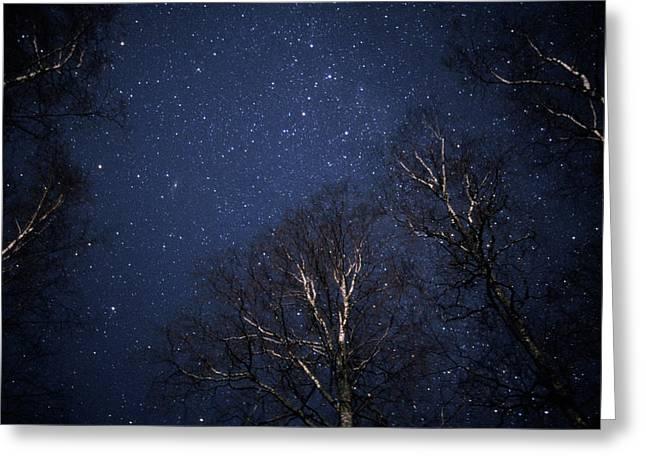 Night Sky Greeting Card by Pekka Parviainen/science Photo Library