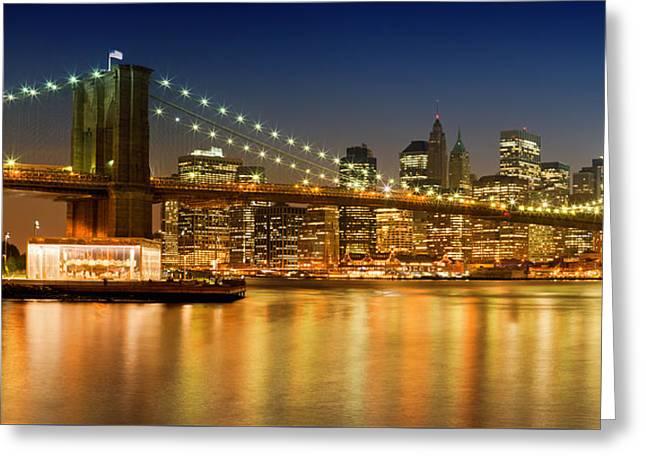 Night-skyline New York City Greeting Card