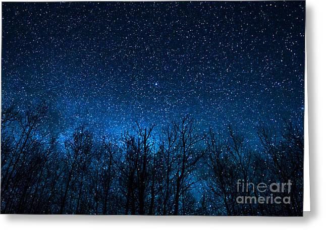 Night Stars Greeting Card