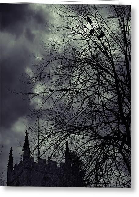 Night Greeting Card by Svetlana Sewell