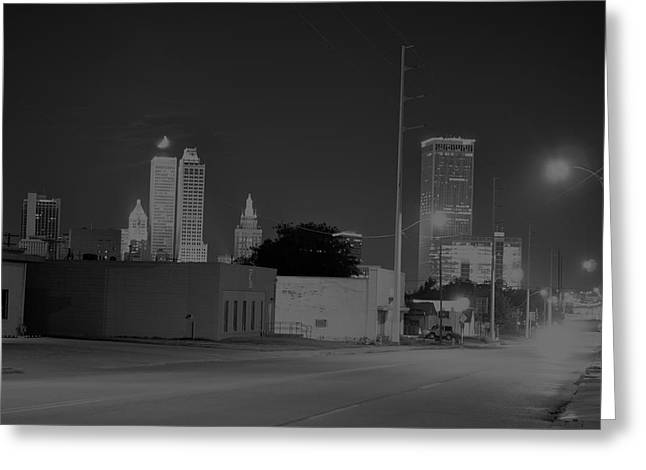 Night Time In T-town Greeting Card