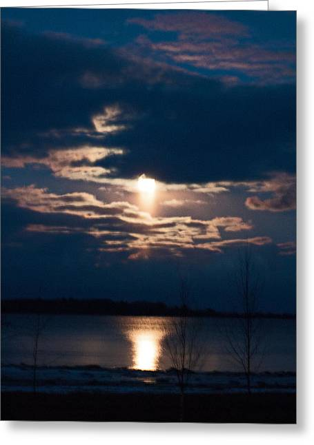 Night Time Reflection Greeting Card by Rhonda Humphreys