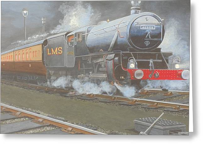 Night Train Greeting Card by James Lawler