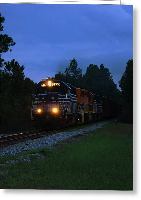 Night Train Greeting Card by Paul  Wilford