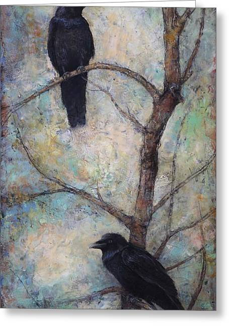Night Watch -  Ravens Greeting Card