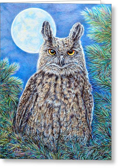 Night Watchman Greeting Card by Gail Butler