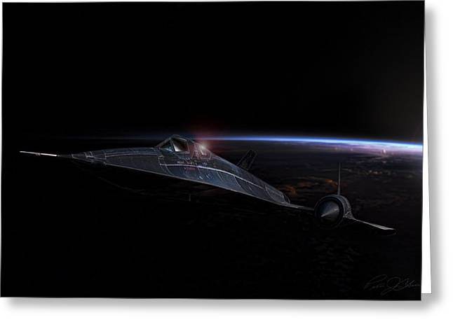 Night Whisper Sr-71 Greeting Card by Peter Chilelli