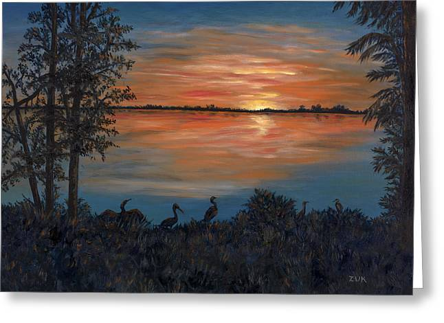 Nightfall At Loxahatchee Greeting Card