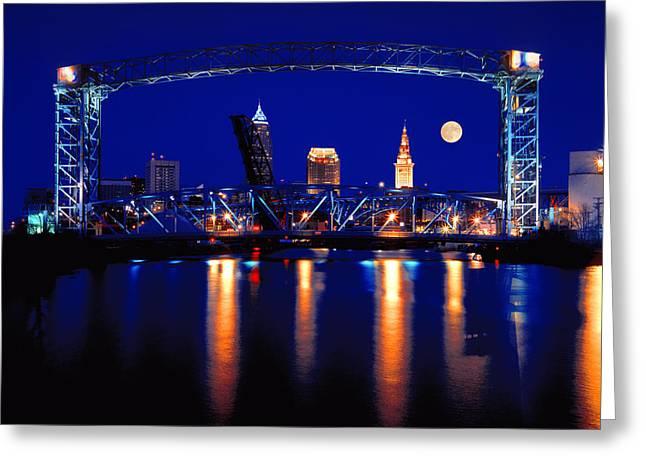 Nightfall In Cleveland Greeting Card