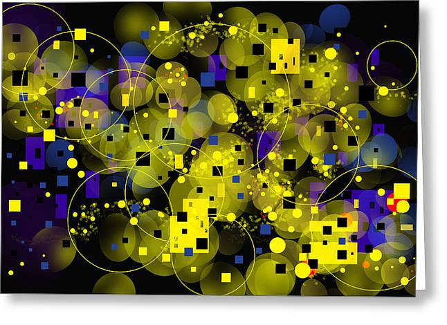 Greeting Card featuring the digital art Nightfall by Lena Wilhite