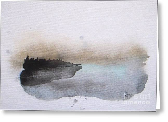 Nightfall On The Lake  Greeting Card by Vesna Antic