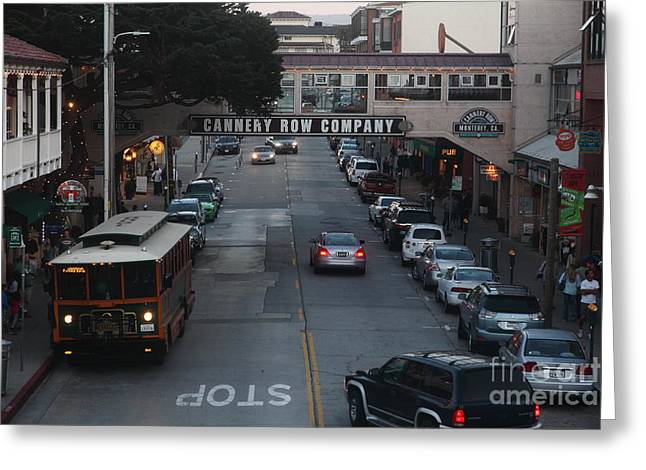Nightfall Over Monterey Cannery Row California 5d25143 Greeting Card