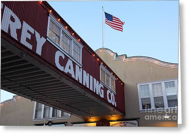 Nightfall Over Monterey Cannery Row California 5d25163 Greeting Card