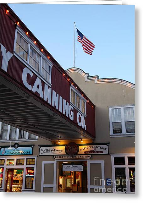 Nightfall Over Monterey Cannery Row California 5d25164 Greeting Card