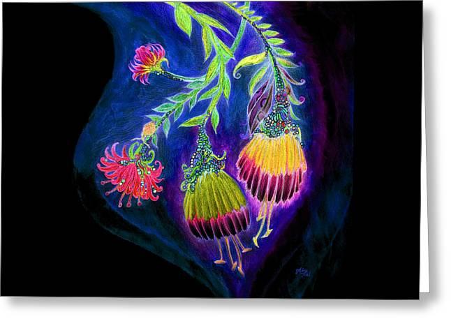 Nightflowers Bright Greeting Card