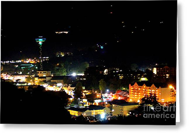 Nightlight In Gatlinburg Greeting Card