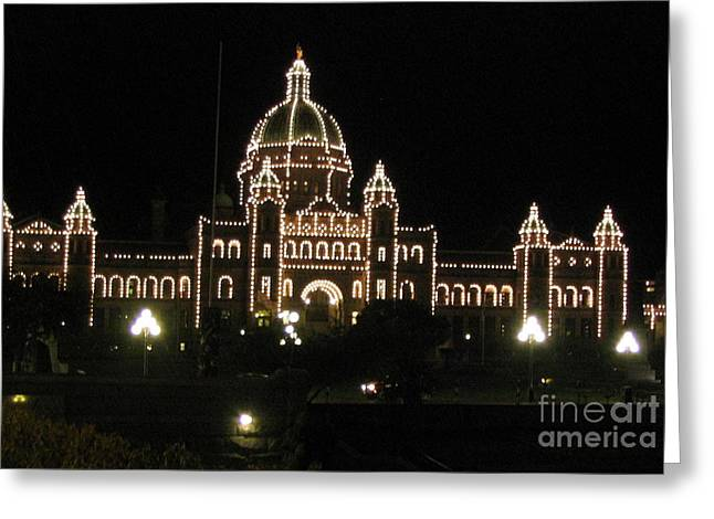 Nightly Parliament Buildings Greeting Card
