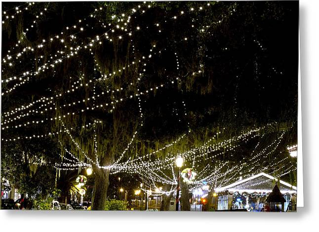 Nights Of Light 2 Greeting Card by Kenneth Albin