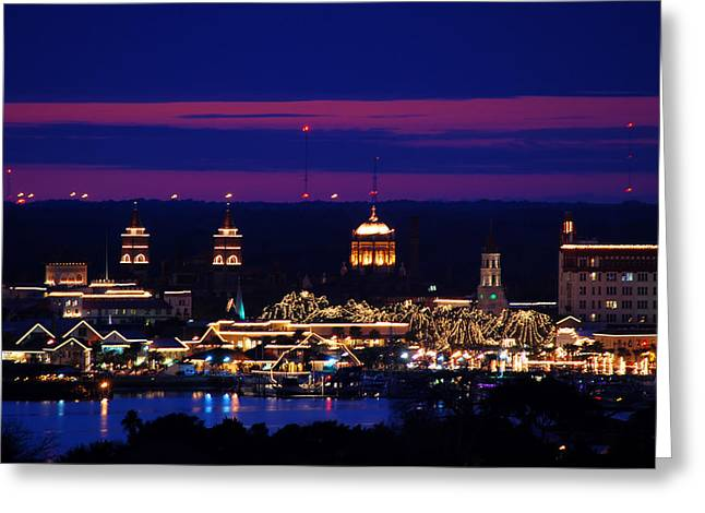 Nights Of Lights St. Augustine Greeting Card