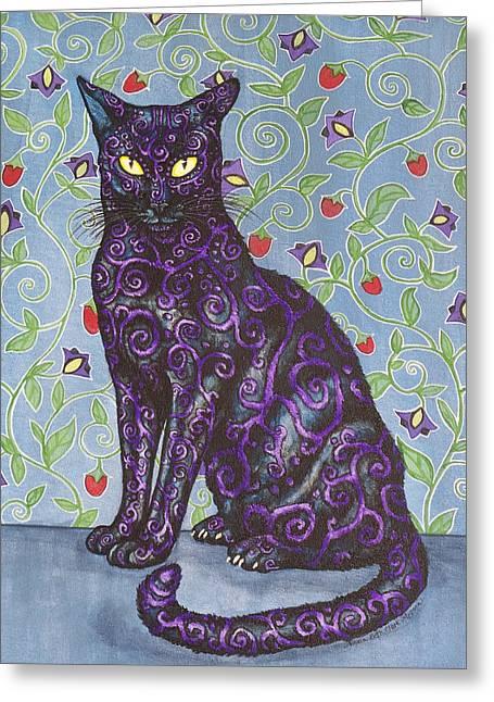 Nightshade Greeting Card by Beth Clark-McDonal